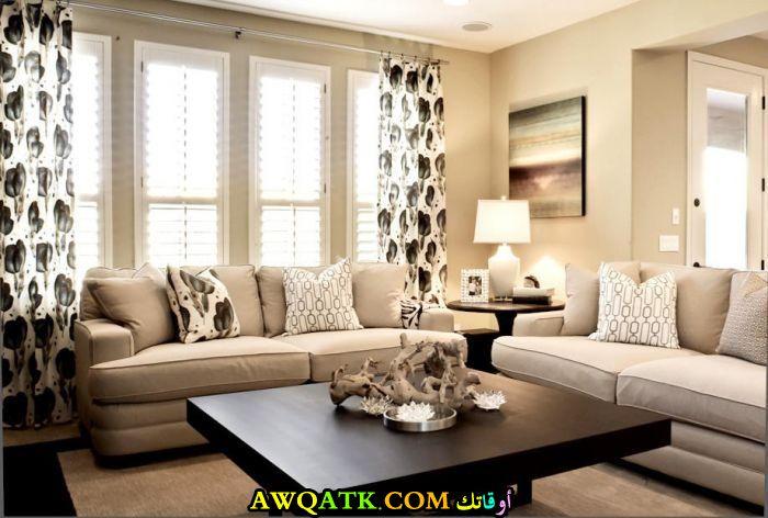 غرفة معيشة بألوان مبهجة أنيقة وجميلة