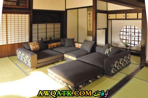 غرف معيشة يابانية شيك جداً