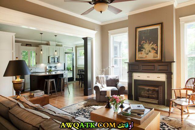 غرفة معيشة أمريكية جميلة جداً