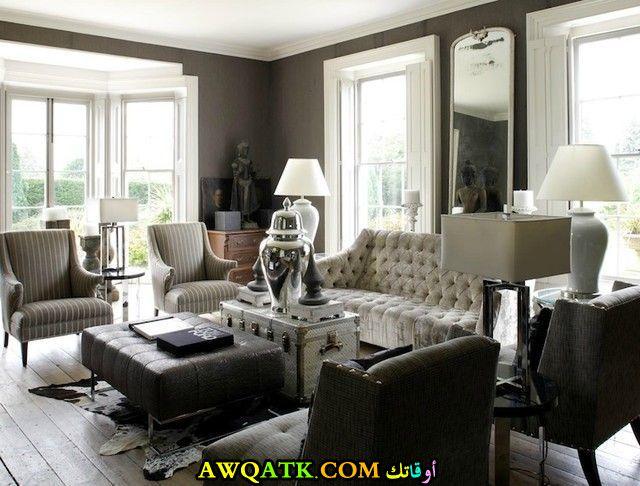 غرفة معيشة أمريكية في منتهي الجمال
