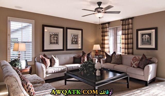 غرفة معيشة أمريكية في منتهي الروعة