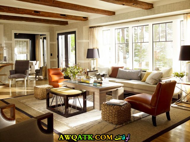 غرفة معيشة أمريكية رائعة