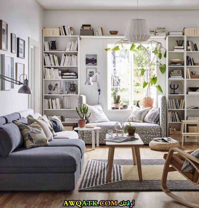 غرفة معيشة من ايكيا رقيقة وهادية