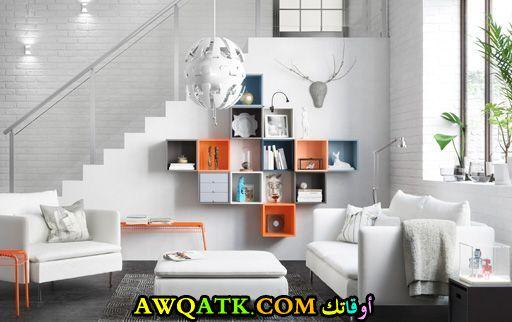 غرفة معيشة من أيكيا أنيقة وجميلة