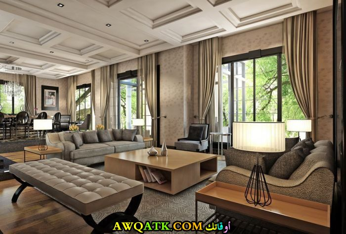 غرفة معيشة تركية تناسب الذوق الهادي