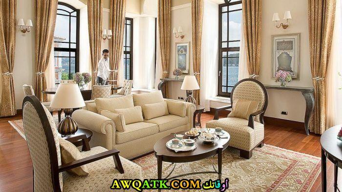 غرفة معيشة تركية حلوة جداً