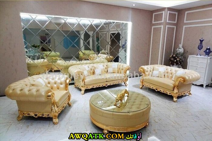 غرفة معيشة تركية فخمة جداً وشيك