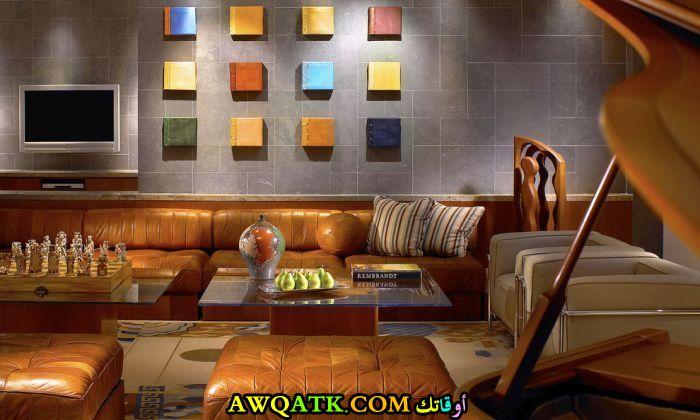 غرفة معيشة ثلاثية الأبعاد أنيقة وجميلة