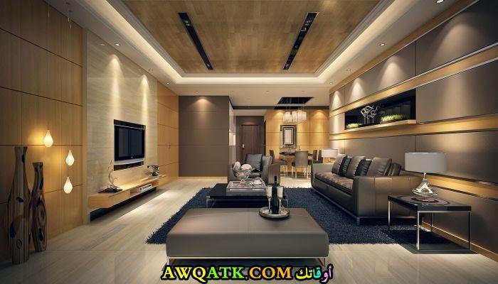 غرفة معيشة جبس بورد جميلة ورائعة