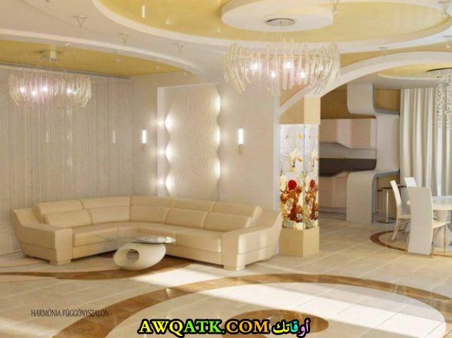 غرفة معيشة جبس بورد قمة في الجمال