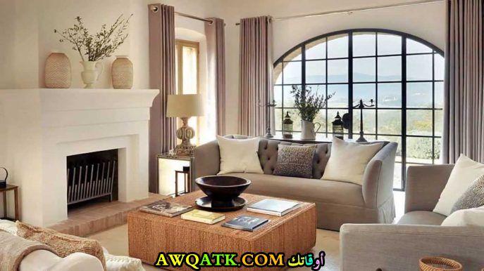 غرفة معيشة جميلة جداً ورائعة