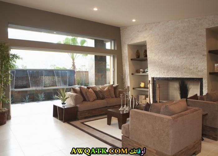 غرفة معيشة جميلة جداً وروعة