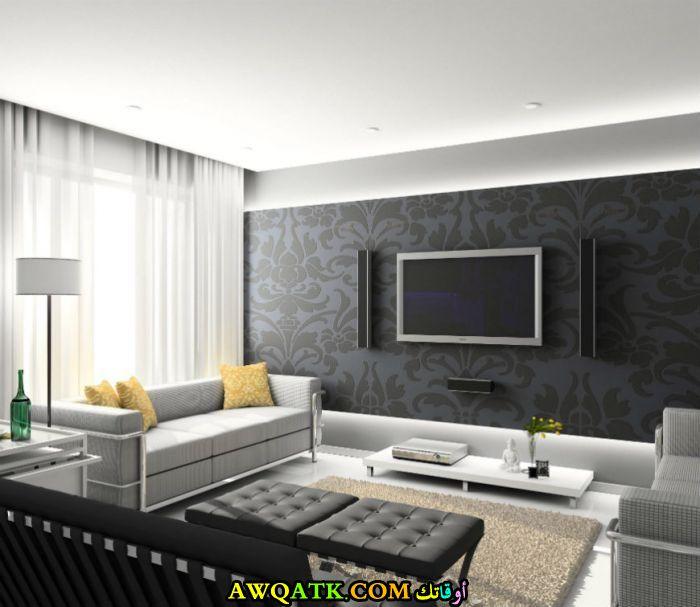 غرفة معيشة روعة وحديثة