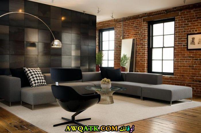غرفة معيشة أنيقة وحديثة