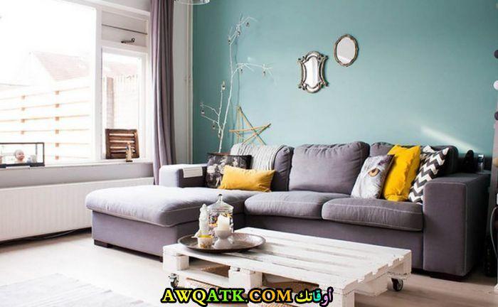 غرفة معيشة في قمة الجمال والشياكة