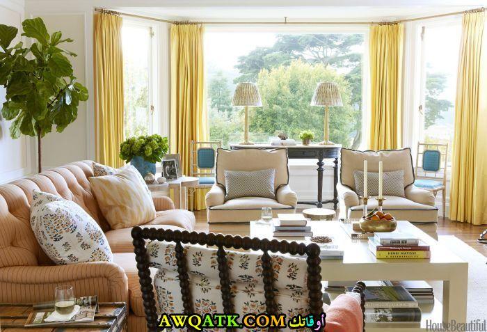 ديكور غرفة معيشة حلو جداً وجميل