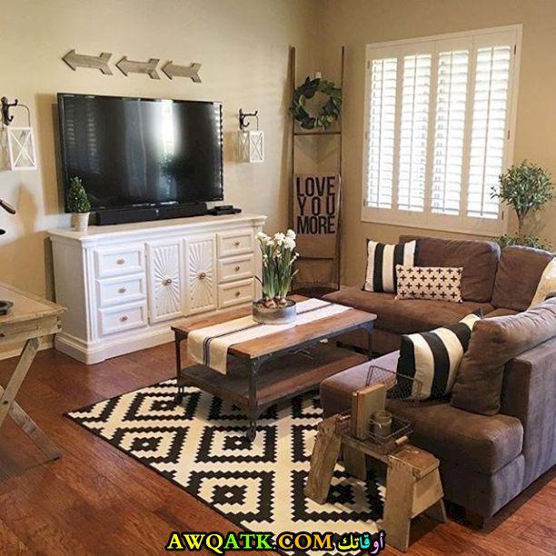 ديكور غرفة معيشة بسيطة وجميلة
