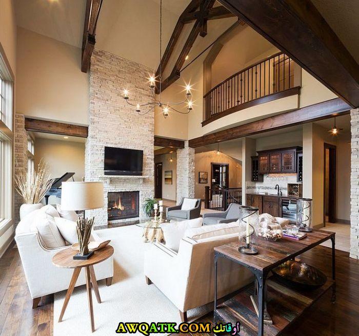 غرفة معيشة ريفية جديدة