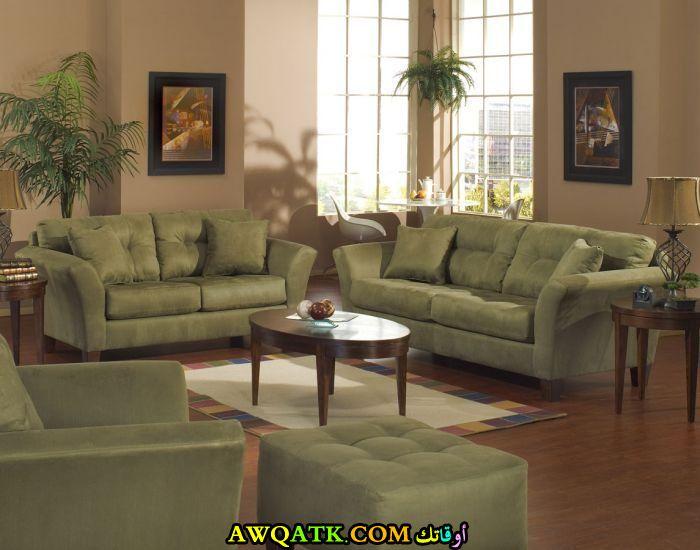 غرفة معيشة باللون الزيتي جميلة جداً