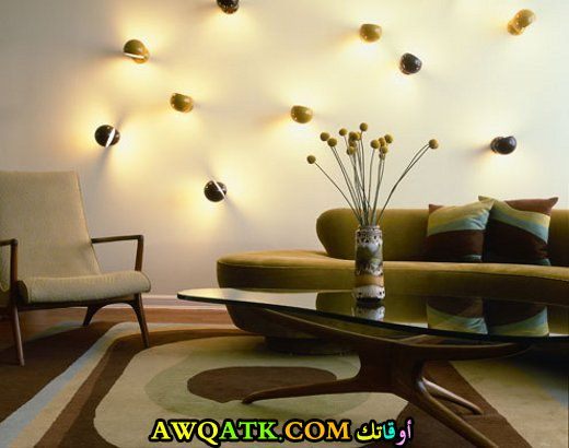 غرفة معيشة باللون الزيتي جديدة وعصرية