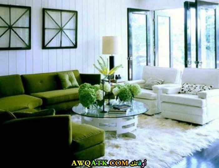 من أجمل وأحلي غرفة معيشة باللون الزيتي