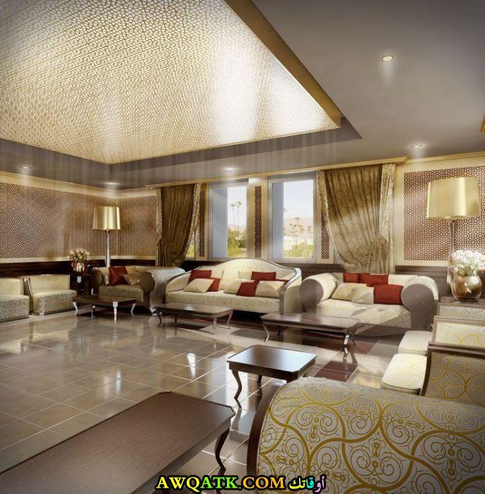 غرفة معيشة سعودية في منتهي الجمال