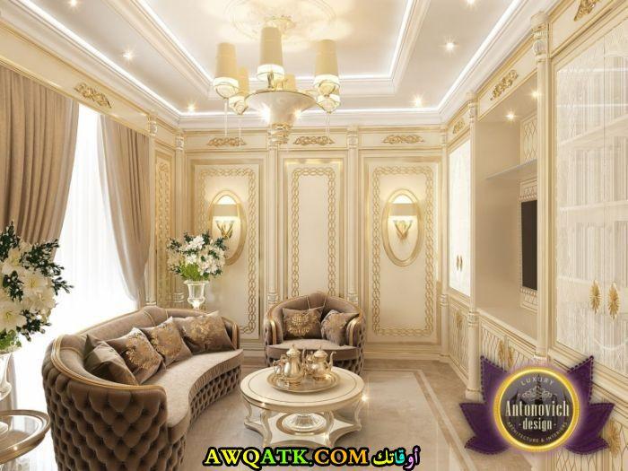 غرفة معيشة سعودية فخمة جداً وشيك