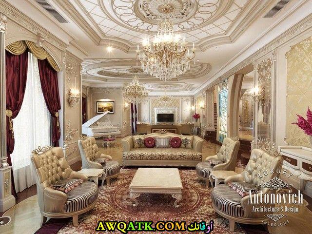 غرفة معيشة سعودية في منتهي الفخامة والجمال