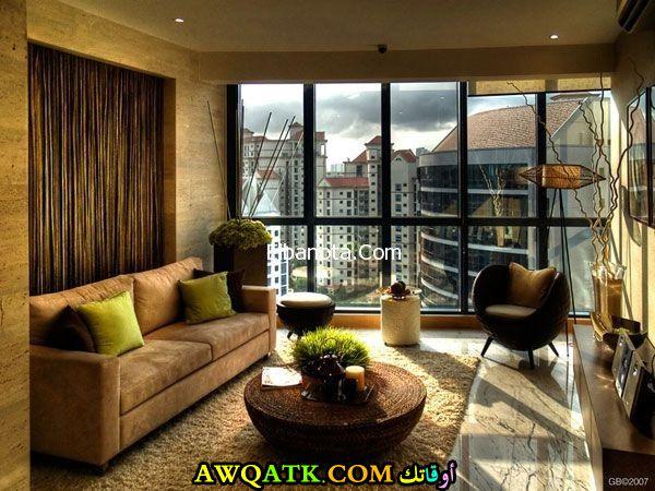 غرفة معيشة بسيطة وحلوة جداً
