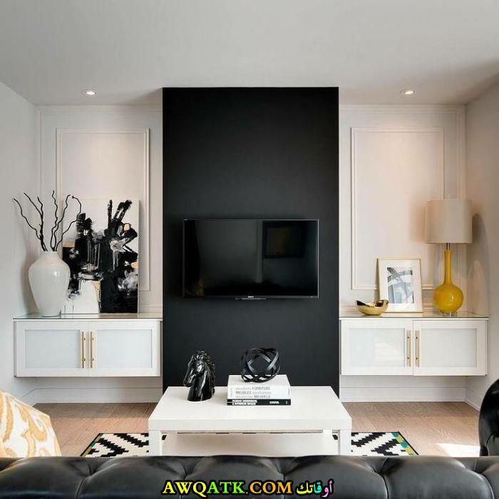 غرفة معيشة باللون الأسود جديدة ورائعة