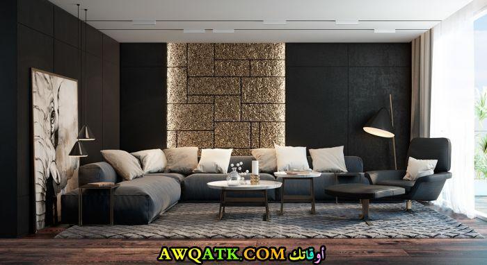 غرفة معيشة باللون الأسود جديدة 2018