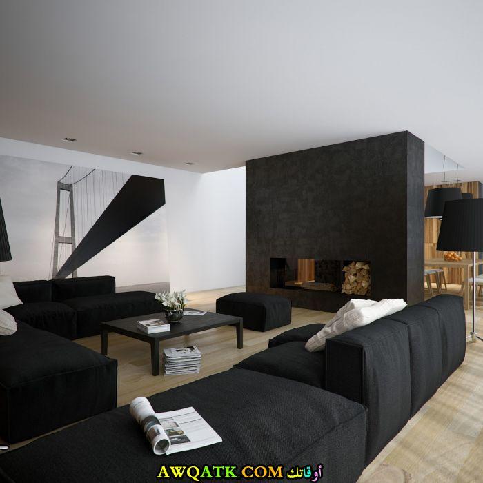 غرفة معيشة باللون الأسود رائعة