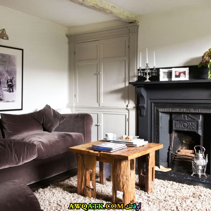 غرفة معيشة صغيرة الحجم رقيقة وجميلة