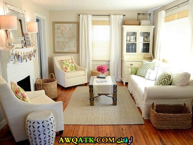 غرفة معيشة صغيرة الحجم روعة