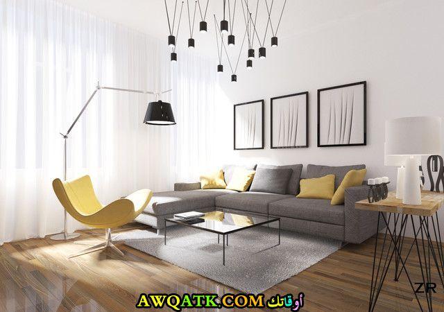 غرفة معيشة ضيقة مودرن 2018