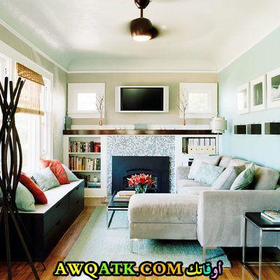 غرفة معيشة ضيقة رائعة