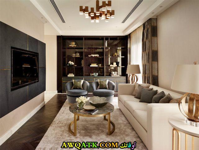 غرفة معيشة عراقية مودرن