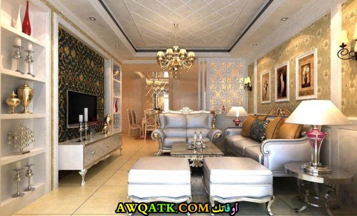 غرفة معيشة عراقية فخمة جداً وشيك