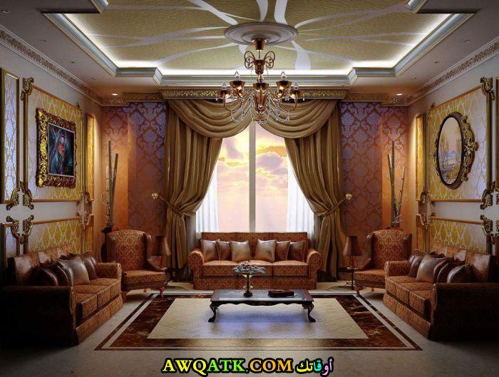 غرفة معيشة عربية جميلة وشيك