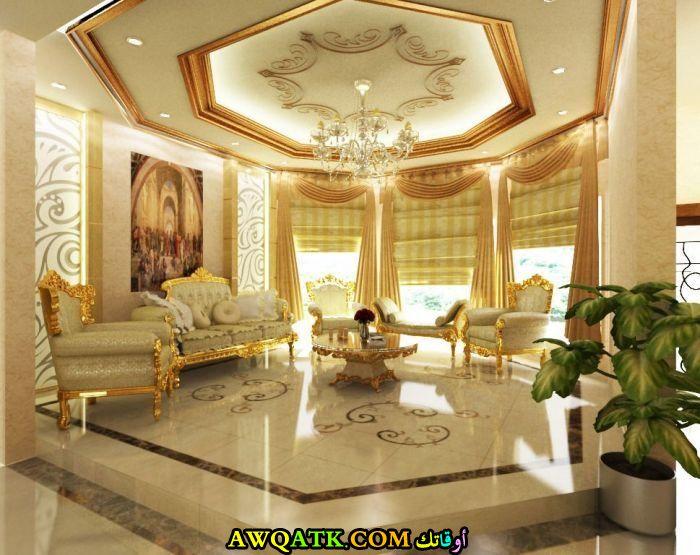 غرفة معيشة عربية أنيقة وجميلة