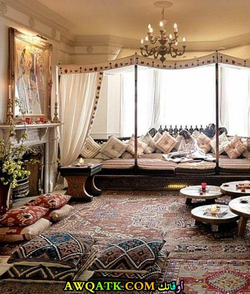 غرفة معيشة عربية جديدة وعصرية