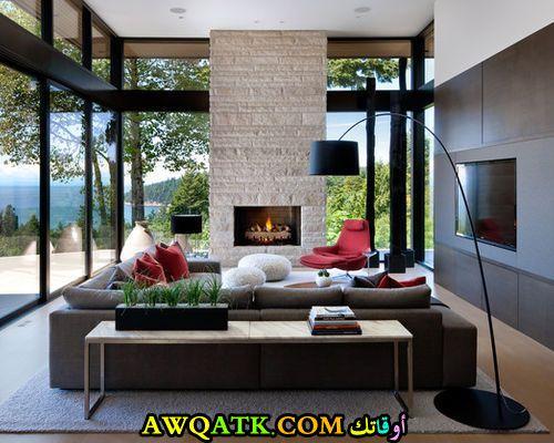 غرفة عيشة عصرية حلوة جداً وشيك