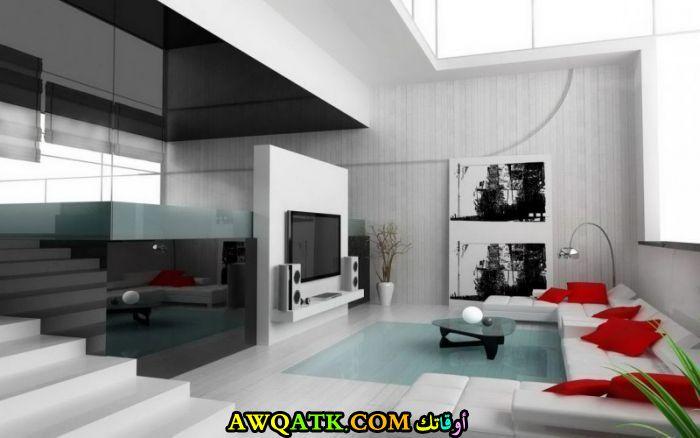غرفة معيشة عصرية وأنيقة