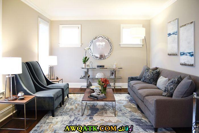 غرفة معيشة عملية رائعة وراقية