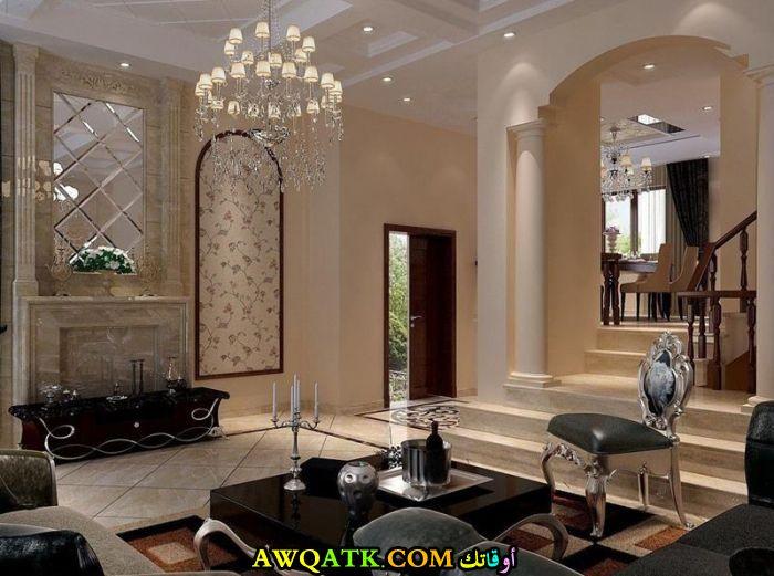 غرفة معيشة فخمة جداً وفي منتهي الروعة والجمال