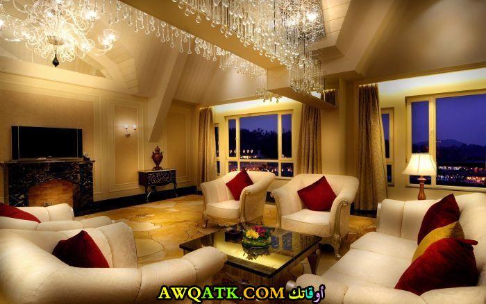 غرفة معيشة فخمة جداً وتناسب الذوق الراقي