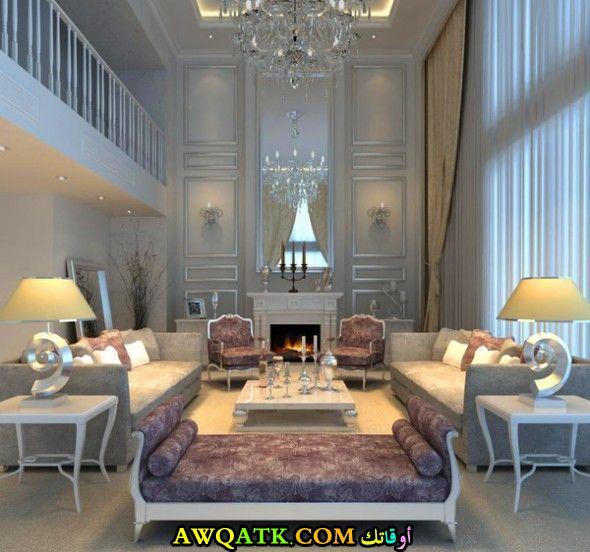 غرفة معيشة فخمة جداً وعصرية
