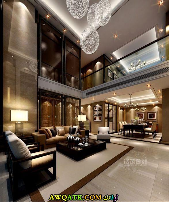 غرفة معيشة فخمة جداً وفي قمة الشياكة