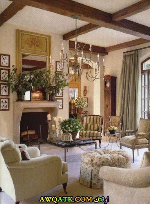 غرفة معيشة فرسية قمة الجمال والفخامة