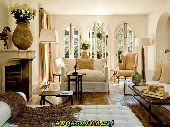 غرفة معيشة فرنسية شيك جداً